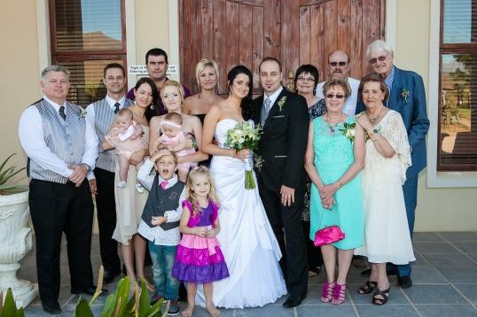 Die Potgieter familie met hul nuutste toevoeging