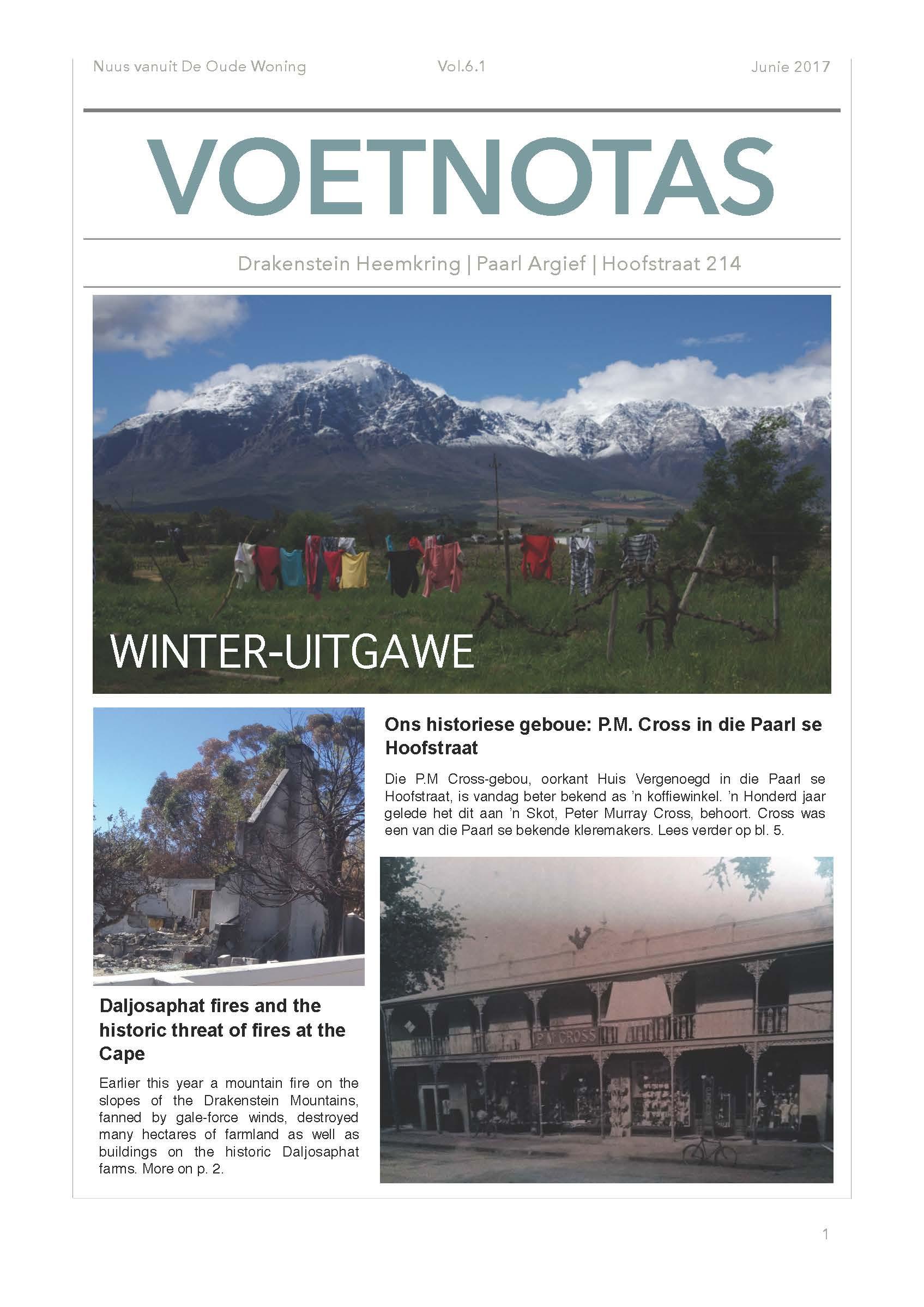 Voetnotas Winter uitgawe voorblad