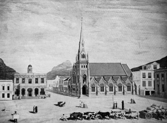 Burger Waghuis en Metodiste kerk Thomas Bowler 1854