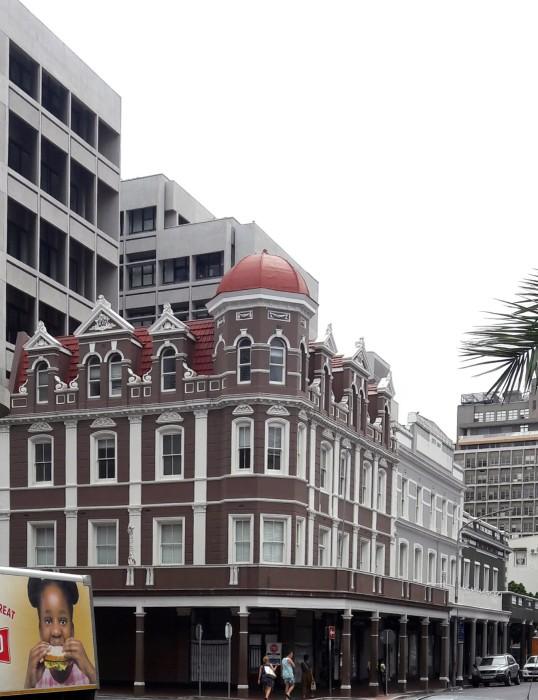 Wiener building 1902 cnr Long en Leeuwen